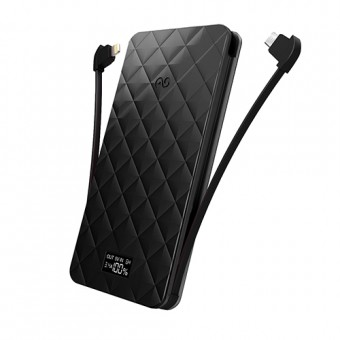 iWalk Extreme Trio 6000, 6000mAh, Apple, Smartphone, USB, Black