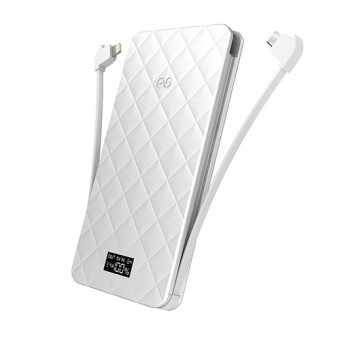 iWalk Extreme Trio 6000, 6000mAh, Apple, Smartphone, USB, White