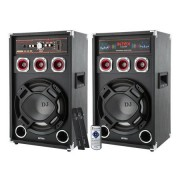 SET 2 BOXE DJ CU 2 MICROFOANE WIRELESS DJ-220