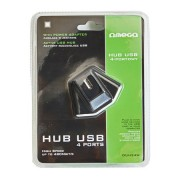 HUB USB 2.0 OMEGA 4 PORTURI POWER ADAPTER