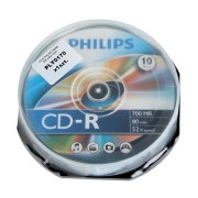 CD-R PHILIPS 700MB 52X CAKE 10BUC