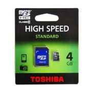MICRO SD CARD 4GB CU ADAPTOR TOSHIBA