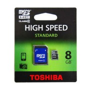 MICRO SD CARD 8GB CU ADAPTOR TOSHIBA